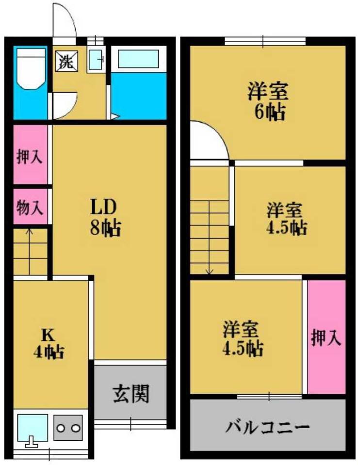 ◆住道矢田1丁目連棟◆《売買》